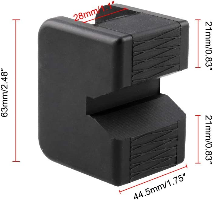 KKmoon Universal Square Slotted Frame Rail Floor Jack Guard Adapter Pad Vehicle Repair