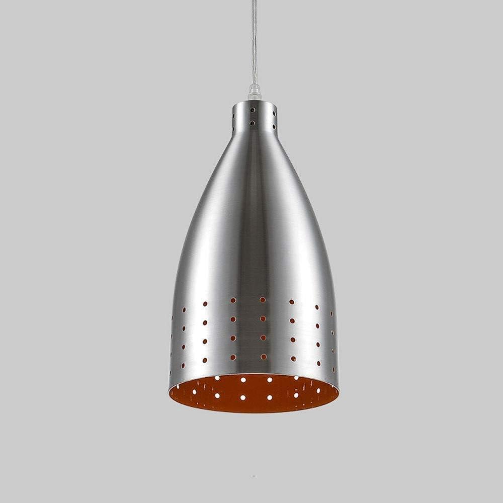 Pendant Light Metal Tubular Ceiling Lights Nordic Hanging Light Brushed Aluminum Pendant Kitchen Island Supermarket Bar Lighting Fixture Chandelier Size 9 In Amazon Co Uk Lighting