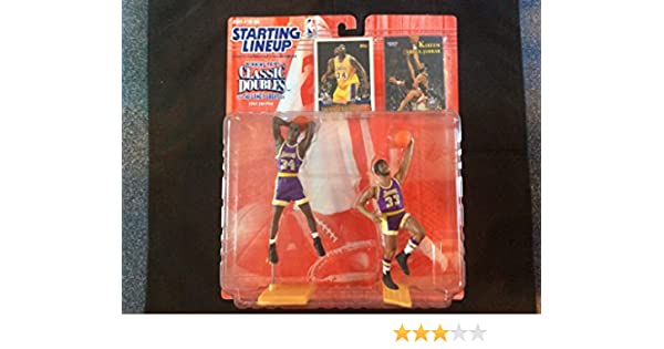 buy popular a8a74 d1794 Amazon.com  SHAQUILLE O NEAL   LOS ANGELES LAKERS   KAREEM ABDUL-JABBAR   LOS  ANGELES LAKERS 1997 NBA Classic Doubles Kenner Starting Lineup Sports ...