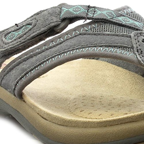 Sandal Earth Leder Spirit Grau Post Grau Toe Womens qzOxvYw6z