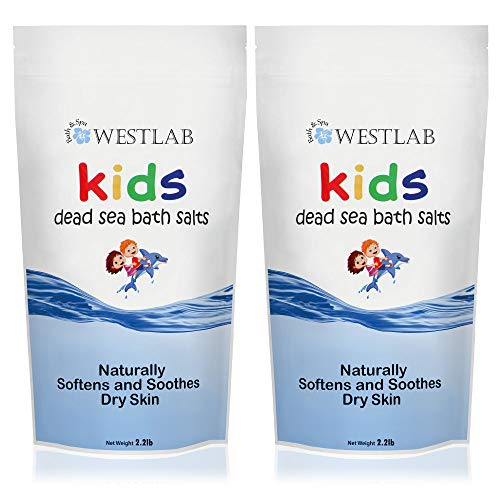 Westlab's Dead Sea Bathing Salt for Kids! (2 Pack) Perfect for Bedtime