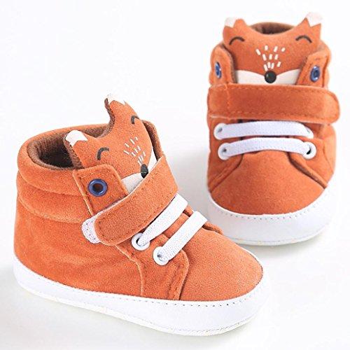 Saingace Krabbelschuhe Baby-Mädchen-Jungen Fox-hoher Hilfen-Schuh-Turnschuh Anti-Rutsch weiches Sole-Kleinkind nTpmEfLzf