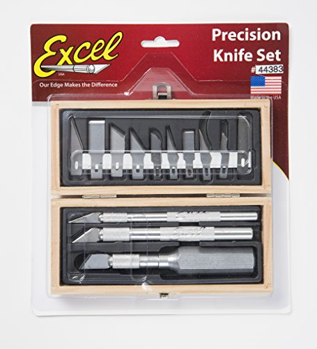 Excel blades craftsman hobby knife set american made for Kitchen craft knife set