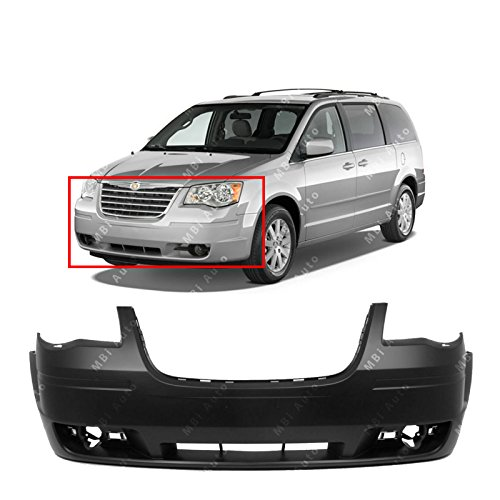 Town Car Front Bumper Cover - MBI AUTO - Primered, Front Bumper Cover Fascia for 2008-2010 Chrysler Town & Country 08-10, CH1000928