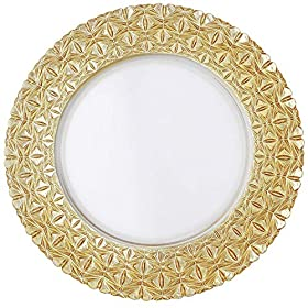 ALINK 13 IN Glass Charger Plates – 0281