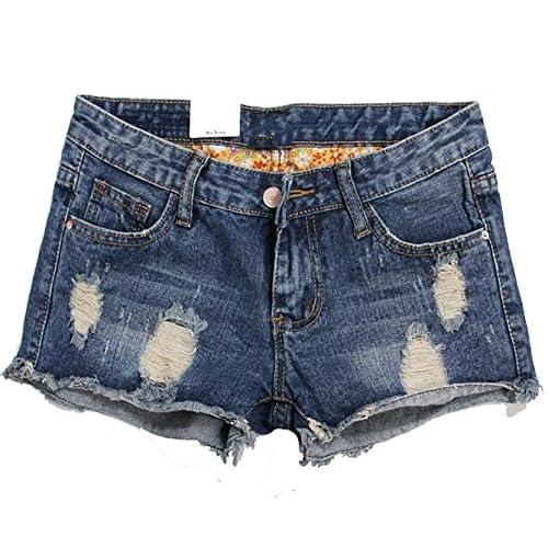 CRYYU-Women Summer Short Jeans Hole Shorts Fenim Low Waist Shorts