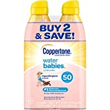 Coppertone WaterBabies Sunscreen Quick Cover Lotion Spray Broad Spectrum SPF 50