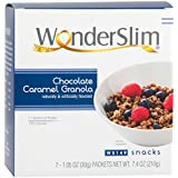 WonderSlim High Protein Granola Snack - Chocolate & Caramel (7ct) - Trans Fat Free, Aspartame Free, Cholesterol Free