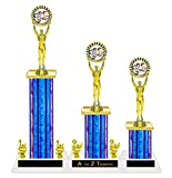 Wrestling Trophy Trophies 1st 2nd 3rd Place Victory Tournament Sports Awards Free Engraving Color Choice