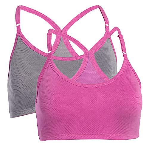 Fruit of the Loom (2 Pack) Sports Bras For Women, Racerback Bra, Strap Sports Bra, Wirefree Bra, Workout Clothes For Women, Womens Underwear