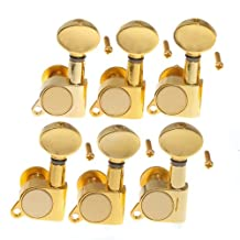 1set 6L grover style tunning pegs Tuners Machine Heads Gold High Quality