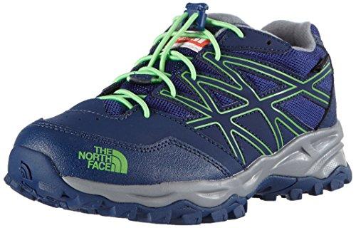 The North Face JR HEDGEHOG HIKER WP, Unisex-Kinder Sneakers, Blau (Marker Blue / Electric Mint Green), 38 EU