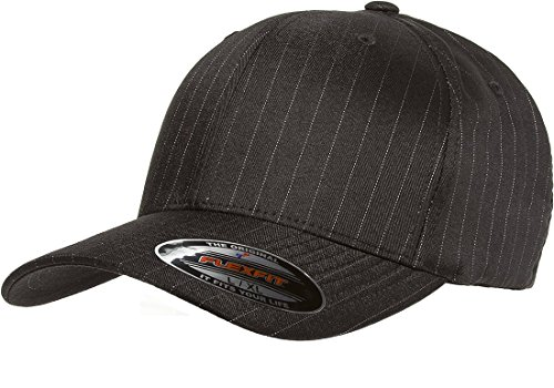 Flexfit Original Pinstripe Hat Baseball Blank Cap Fitted Flex Fit 6195P Large/Xlarge - - Pinstripe Cap Cotton