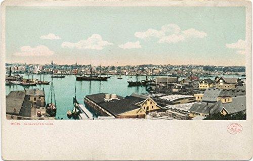 Historic Pictoric Postcard Print | Panorama, Gloucester, Mass, 1898 | Vintage Fine Art ()