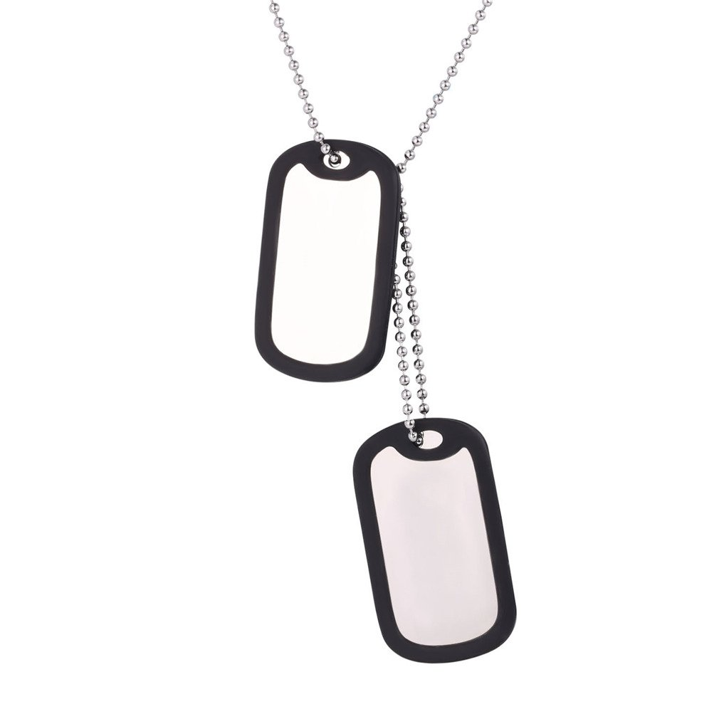 U7 Custom Engraved Medical Alert ID Dog Tag Pendant with Stainless Steel Chain 23 U7 Jewelry U7 GP2598H-JG001