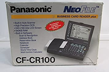 Amazon panasonic neo file business card reader plus cf cr100 panasonic neo file business card reader plus cf cr100 manufacturer discountinued reheart Gallery