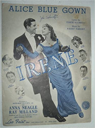 ALICE BLUE GOWN 1919 SHEET MUSIC \