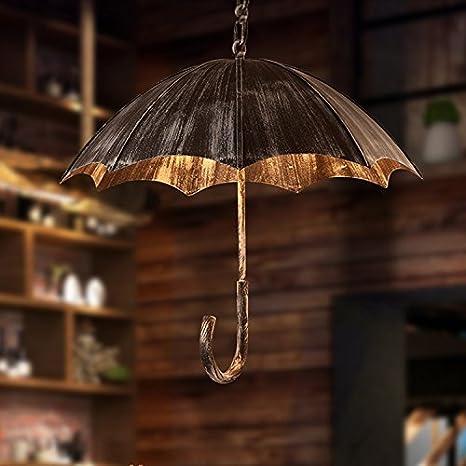 Retro Creativo paraguas colgante Leuchten Vintage La Industria Loft – Lámpara de techo para Vieja Atmosphera