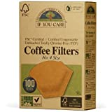 If You Care Unbleached Coffee Filters, 4 cone, 100 count.