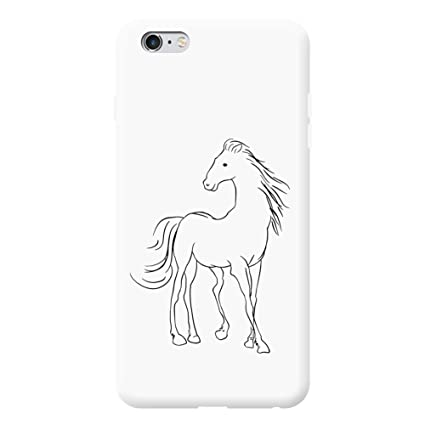 Amazon Com Jys365 Horse Sketch Line Full Phone Case Cover For