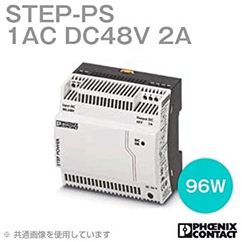 output: 48 V DC//2 A input: 1-phase Primary-switched STEP POWER power supply for DIN rail mounting STEP-PS// 1AC//48DC//2