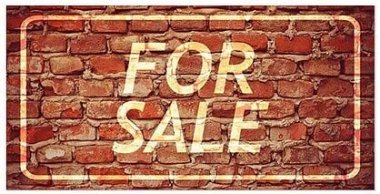CGSignLab for Sale 5-Pack 24x12 Ghost Aged Brick Window Cling