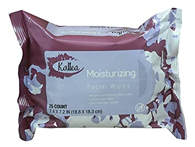 Kallea Deep Cleansing Facial Wipes, 25 Count (Pack of 6)