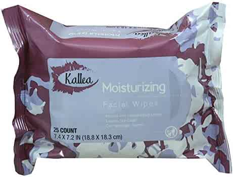 Kallea Moisturizing Makeup Remover Towelettes & Facial (Face) Wipes, 25 Count (Pack of 6)