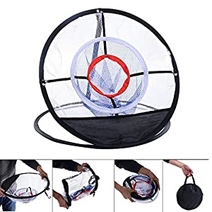 "Portable 20"" Golf Training Chipping Net Hitting Aid Practice In/Outdoor Bag"