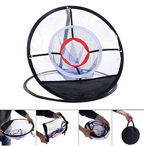 Portable 20″ Golf Training Chipping Net Hitting Aid Practice In/Outdoor Bag