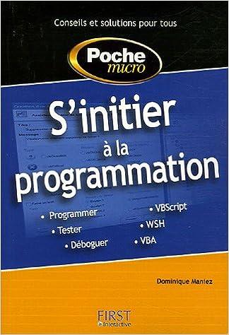 Téléchargement S'initier à la programmation pdf