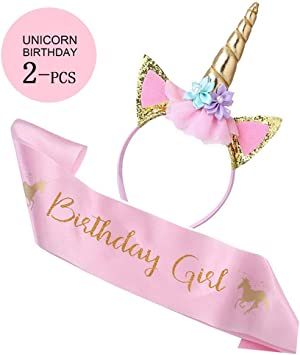 Amazon.com: Unicorn - Juego de diadema de unicornio con ...