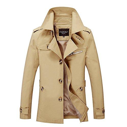 hombres de Largo Chaqueta lavó XXXXXL tendencia coreanos moda Hombre hombres caqui chaqueta cortavientos los de algodón TUBxdUqp