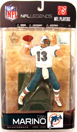 Dolphins Legend Series - McFarlane Toys NFL Sports Picks Legends Series 5 Action Figure Dan Marino (Miami Dolphins) White Jersey Variant