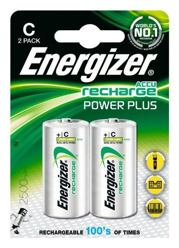 Energizer Original Akku Power Plus Baby C  (2500mAh, 1,2 Volt, 2-er Pack)