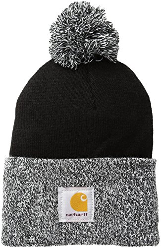 Carhartt Women's Lookout Acrylic Pom Hat, Black, One Size