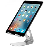 Adjustable Tablet Stand, Pasonomi iPad Stand, Aluminum Desktop Stand Holder for iPad Pro / iPad Air 2 3 4/ iPad mini , Samsung Tab, Kindle, Nexus, Surface, iPhone, Nintendo Switch and more - Silver