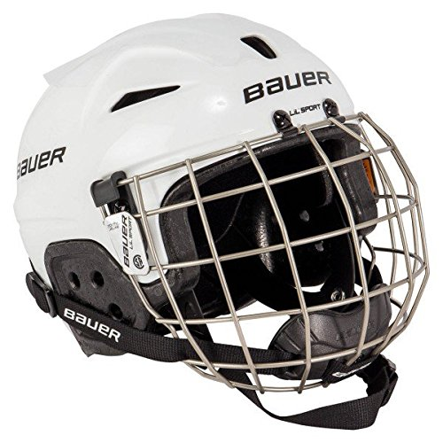 Hockey Helmet (Bauer Youth LIL SPORT Helmet Combo, White)
