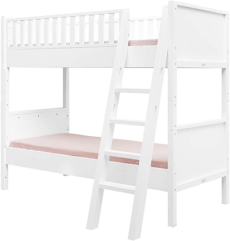 Litera 90 x 200 escalera inclinada Nordic – Blanco: Amazon.es: Bebé