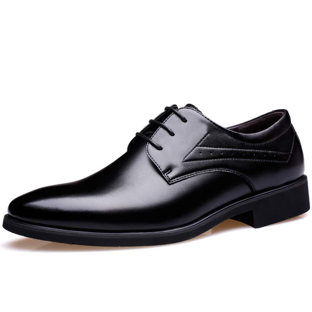 Business Ankle Schuh fü r Herren Geschä fts-Oxford-Leder-Mikrofaser-formale Schuhe 2 '/ (6cm) grö ß ere abnehmbare Hö he der Einlegesohle fü r Anzug Kleid Hochzeit Arbeit ( Color : Braun , Grö ß e : 38 EU ) Ofgcfbv