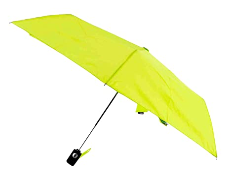 Raines Automatic Umbrella with 32-inch Canopy Coverage and Nylon Carrying Case, Lime,