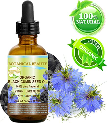 Botanical Beauty ORGANIC BLACK CUMIN SEED OIL - Nigella sativa 100% Pure Review and Comparison