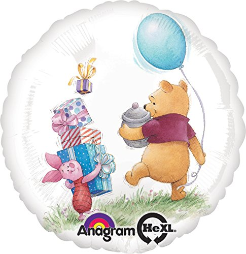 Anagram International Winnie the Pooh Birthday Foil Balloon Pack, Multicolor ()
