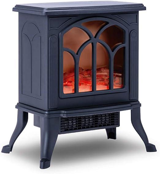 NEWTECK Chimenea Eléctrica Classic Flame, Calefactor Cerámico Termoventilador Llama Decorativa,...