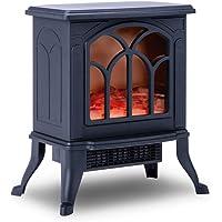 NEWTECK Chimenea Eléctrica Classic Flame, Calefactor Cerámico Termoventilador Llama…
