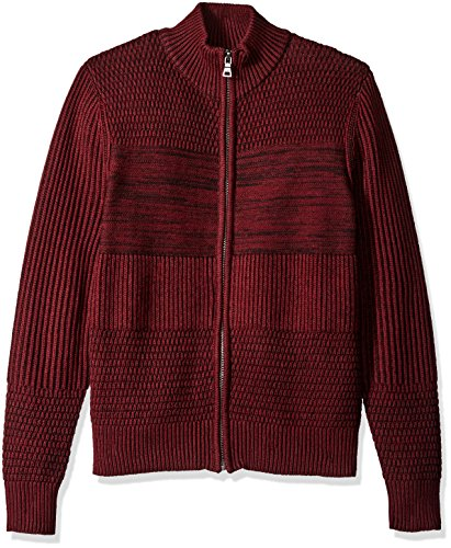 GUESS Men's Marled Sweater, Tawny Port Multi, (Full Tawny Port)