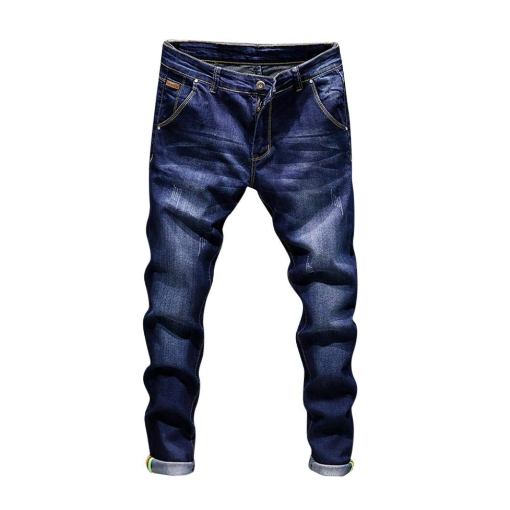 Realdo Hot!Clearance Sale!Mens Daily Casual Jeans, Vintage Wash Durable Work Trousers Jeans Pants (36,Dark Blue)