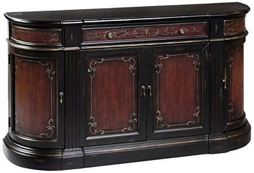 Pulaski Sandy Credenza, 63 by 15 by 36-Inch, Red/Brown by Pulaski