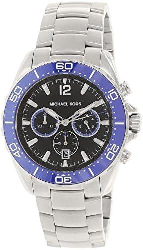 Michael Kors Men s MK8422 – Jetmaster Silver Blue