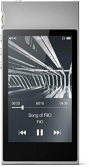 M7 High Resolution Lossless Music Player with aptX, aptX HD, LDAC HiFi Bluetooth, FM Radio and Full Touch Screen (Silver)